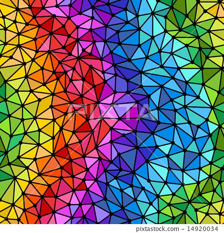 Bright rainbow triangles seamless background 14920034