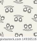 seamless, doodle, pattern 14936516