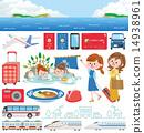 旅遊大巴 拉桿箱 手提箱 14938961