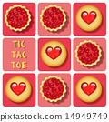 Tic-Tac-Toe of cookie and tart 14949749