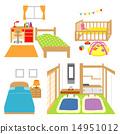 침실 일본식 어린 아기 방 14951012