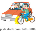 Bicycle accident while doing smartphone 14958006