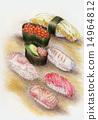 寿司 黄瓜 和风 14964812