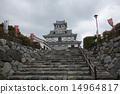 nagahama, castle, historical 14964817