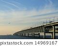 สะพาน,เครื่องบิน,ท้องฟ้าเป็นสีฟ้า 14969167