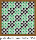 馬賽克 矢量 格子圖案 14970954