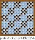 馬賽克 矢量 格子圖案 14970956