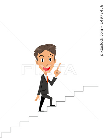 Businessman staircase pointing 14972456