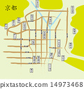 Map of the temple in Kyoto 14973468