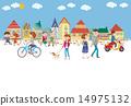 城市風光 人類 人物 14975132