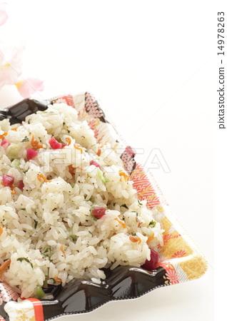 Crispy plum omelettes lunch box 14978263