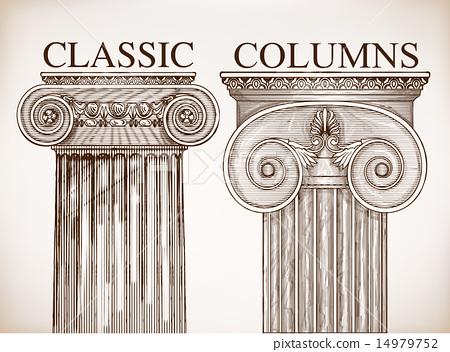 Classical column background set 14979752