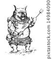 หมู,คนครึ่งสัตว์,เอกรงค์ 14984090