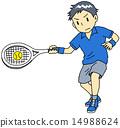 男人 网球 网球服 14988624