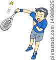 男人 網球 網球服 14988625