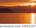 Takeyoshima floating in Lake Biwa 14993107
