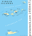 Virgin Islands Political Map 14994471