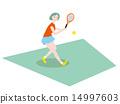 打網球的女人 14997603