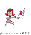Woman handbag and cosmetic 14998111