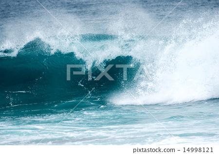 파도의 서 푸른 바다 14998121