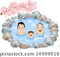 父母和孩子3代_樱花谁进入温泉 14999016