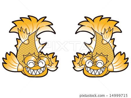 神话鲤鱼 黄金 金色 14999715