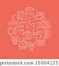 art line icon circle set 15004125