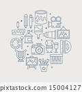 art line icon circle set 15004127