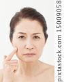 미들 여성의 얼굴 15009058