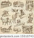 Bulgaria travel - An hand drawn pack 15010743