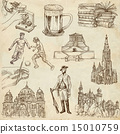 Germany travel - An hand drawn pack 15010759