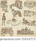 Hugary travel - An hand drawn pack 15010773