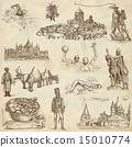 Hugary travel - An hand drawn pack 15010774