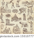 Italy travel - An hand drawn pack 15010777