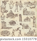 Italy travel - An hand drawn pack 15010778