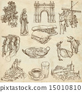 Spain travel - An hand drawn pack 15010810