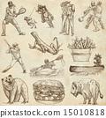 USA travel - An hand drawn pack 15010818