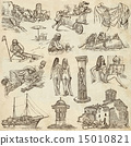 Former Republics of YUGOSLAVIA - drawings on paper 15010821