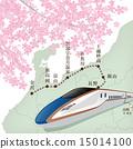 地圖 櫻花 櫻 15014100
