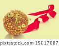 christmas ball and ribbon 15017087