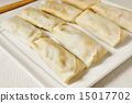 uncooked spring rolls 15017702