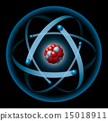 Atom Having Nucleus And Electrons 15018911