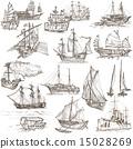 Boats - Hand drawings, Originals 15028269