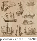 Boats - An hand drawn vector pack 15028289