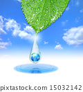 Ecological Earth in Water Drop 15032142