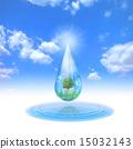 Ecology landscape in water drops 15032143