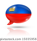 Liechtenstein flag speech bubble 15035956
