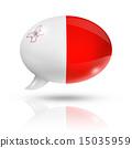 Malta flag speech bubble 15035959