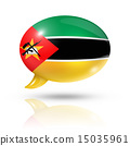 Mozambique flag speech bubble 15035961