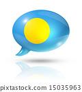 Palau flag speech bubble 15035963